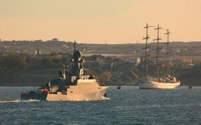 Picture ships, Bay, Sevastopol, Hersonissos, Грайворон