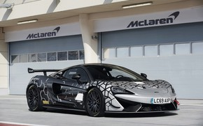 Picture coupe, McLaren, boxes, 2020, V8 twin-turbo, 620R, 620 HP, 3.8 L.