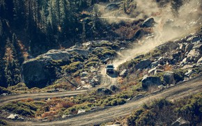 Picture road, mountains, transport, car, GMC SIERRA AT4