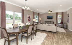 Picture design, comfort, interior, living room, dining room, Indiana, Riley Ridge Home