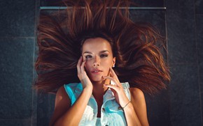 Picture look, girl, face, hair, hands, Marco Squassina, Marialaura Hunting