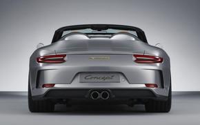 Picture Porsche, 2018, feed, gray-silver, 911 Speedster Concept
