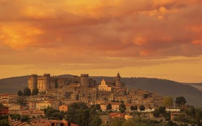 Picture home, Italy, panorama, Bracciano