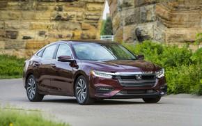 Picture grass, Honda, sedan, Hybrid, Insight, hybrid, Touring, four-door, 2019