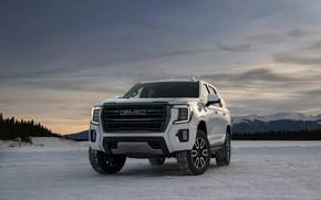 Picture winter, snow, GMC, SUV, Yukon, AT4, 2020, 2021