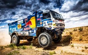 Picture Sand, Auto, Sport, Machine, Speed, Truck, Race, Master, Russia, 2018, Kamaz, Rally, KAMAZ-master, Rally, KAMAZ, …