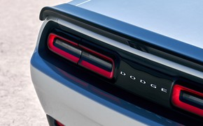 Picture Dodge, Challenger, rear view, Hellcat, SRT, Widebody, 2019, Redeye