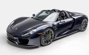 Picture Blue, Supercar, 2015, PORSCHE 918, SPYDER, WEISSACH