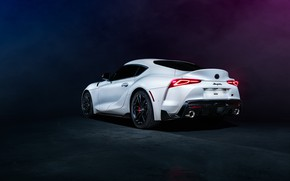 Picture background, white, rear view, Toyota Supra