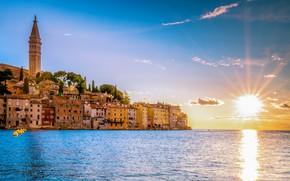 Picture sea, the sun, sunset, Croatia, Rovinj