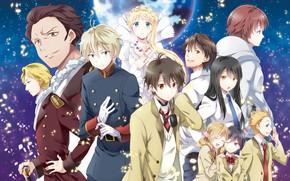 Picture anime, Space, art, characters, Aldnoah Zero, Aldea zero