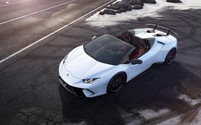 Picture Lamborghini, Spyder, the view from the top, 2018, Performante, Huracan