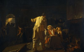 Picture oil, picture, canvas, Michael Swerts, 1652, Michael Sweerts, Visiting the sick