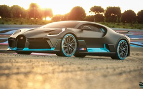 Picture sunset, Bugatti, supercar, 2018, hypercar, Divo