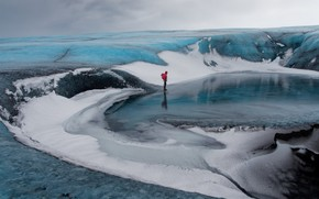Picture iceland, Vatnajökull, Glacier