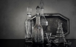 Picture background, glass, decanter
