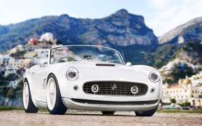 Picture Auto, White, Retro, Machine, Rendering, The front, Transport & Vehicles, Redz, by Redz, Ferrari 250 …