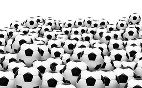 Picture football, balls, white background