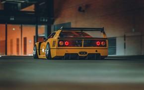 Picture Auto, Yellow, Retro, Machine, Ferrari, F40, Rendering, Concept Art, Ferrari F40, Khyzyl Saleem, by Khyzyl …