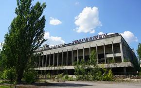 Picture the building, Pripyat, energetic, gym, Культурный центр, Фитнес-клуб