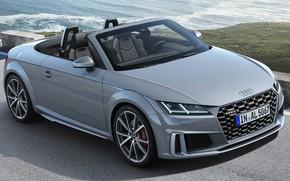 Picture sea, Audi, Roadster, convertible, grey, Audi TT, Audi TTS, Audi TTS Roadster