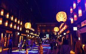 Picture Japan, Lights, Old street