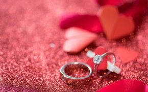 Picture background, holiday, ring, Valentines Day