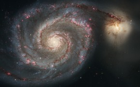 Picture Hubble, Spiral galaxy, Whirlpool Galaxy, Messier 51