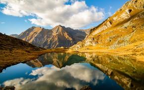 Picture mountains, lake, Italy, lake Bos