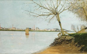 Picture landscape, picture, 1889, Maxime Maufra, Maxim Mora, The Banks Of The Loire