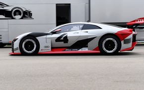 Picture asphalt, Audi, profile, 2018, e-tron Vision Gran Turismo