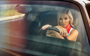 Picture machine, auto, glass, girl, driving, Christopher Rankin