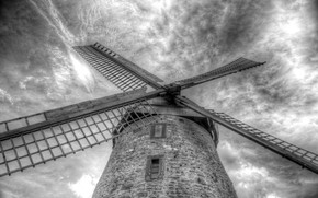 Picture the sky, background, mill