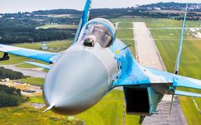 Picture Fighter, Lantern, Ukraine, Su-27, Pilot, WFP, Cockpit, Ukrainian air force, RL, Gdynia Aerobaltic 2019