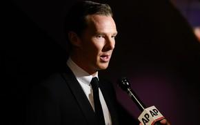 Picture look, background, microphone, the conversation, Benedict Cumberbatch, Benedict Cumberbatch