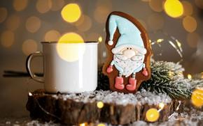 Picture hot, chocolate, Christmas, cookies, figure, decor, glaze, Kukota Ekaterina