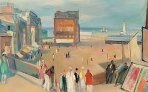 Picture people, home, picture, the urban landscape, Le Tréport, Henri Ottmann, Henri Ottmann