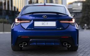 Picture lights, Lexus, rear view, RC F, 2019
