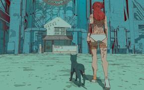 Picture Girl, Figure, Cat, Cat, Style, Tattoo, Art, Tattoo, Art, Style, Cyborg, Cyborg, Characters, Surreal, Science …