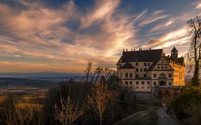 Picture castle, the evening, architecture