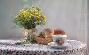 Picture bouquet, Cup, buns