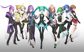 Picture girls, anime, art, guys, vocaloid, characters
