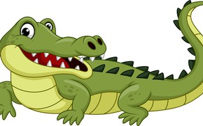 Picture funny, drawing, crocodile, reptile