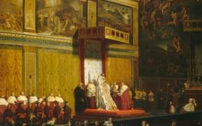 Picture Jean Auguste Dominique Ingres, 1814, Pope Pius VII in the Sistine Chapel