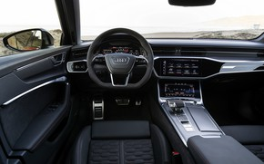 Picture Audi, interior, universal, RS 6, 2020, 2019, V8 Twin-Turbo, RS6 Avant