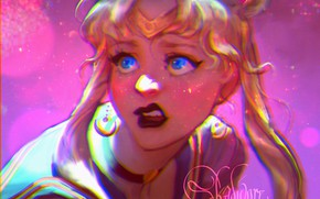 Picture girl, Sailor Moon, Usagi Tsukino, by Pauline Voß