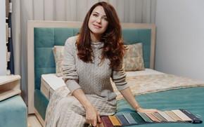 Picture look, pose, smile, hair, makeup, figure, actress, hair, Ekaterina Klimova