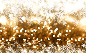Picture winter, snow, snowflakes, background, golden, Christmas, winter, background, snow, bokeh, bokeh, snowflakes