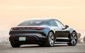 Picture black, Porsche, back, 2020, Taycan, Taycan 4S