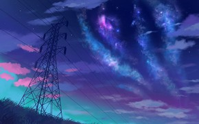 Picture the sky, night, stars